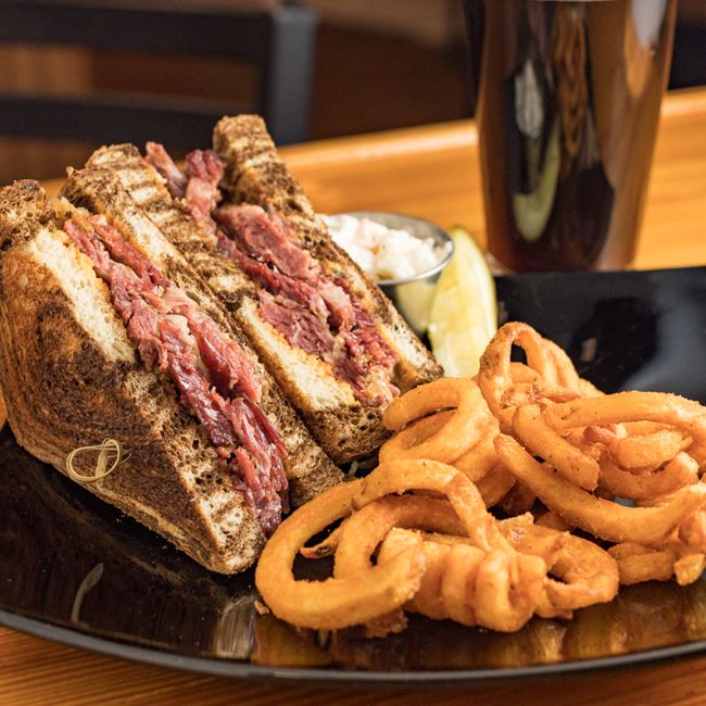 Grilled Reuben Sandwich at The Complexx at Wagner's Lanes