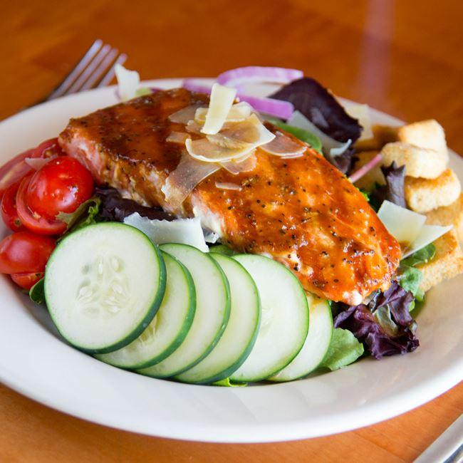 Bourbon Street Salmon Salad at The Brass Ring