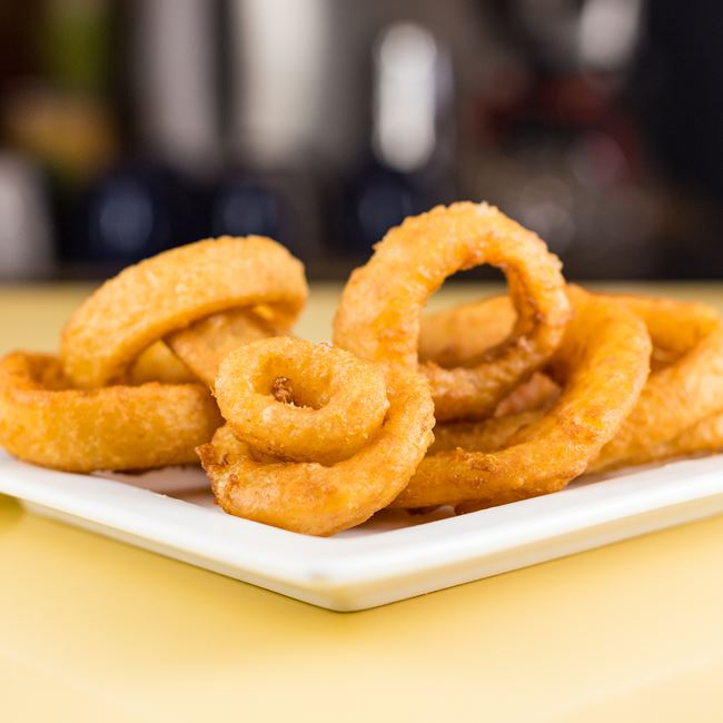 Golden Onion Rings at Solly's Grille