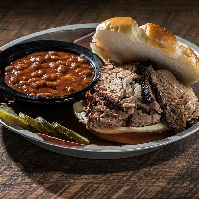Brisket Sandwich at DOC's Commerce Smokehouse