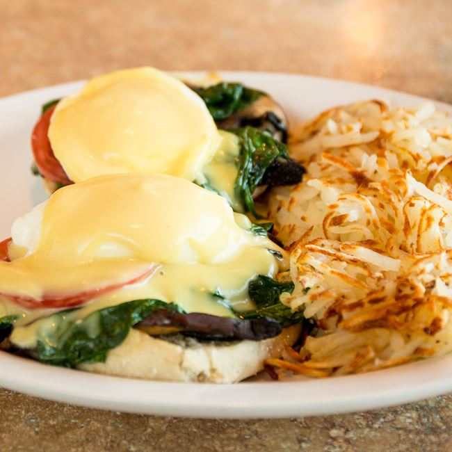 Eggs Florentine Benedict at Sofra Family Bistro