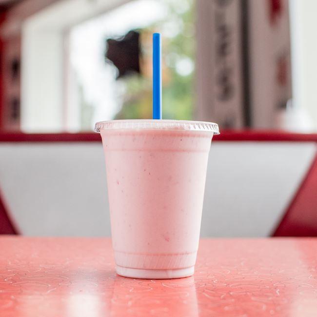 Strawberry Milkshake at Wayne's Drive-In