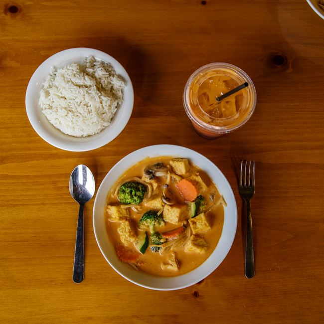 Mixed Veggie Curry Tofu at Curry in the Box