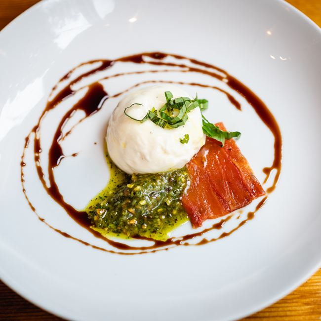 Burrata at Onesto