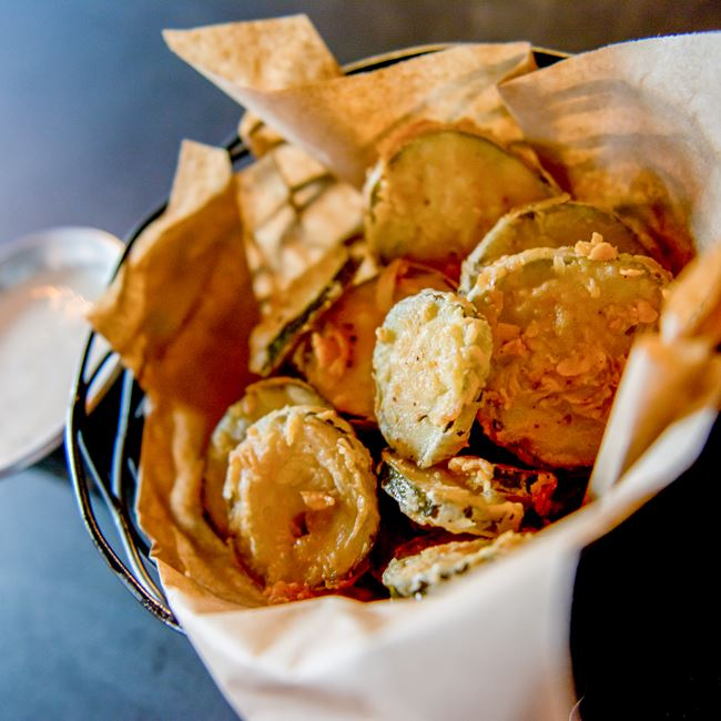 Fried Pickles at 5280 Burger Bar