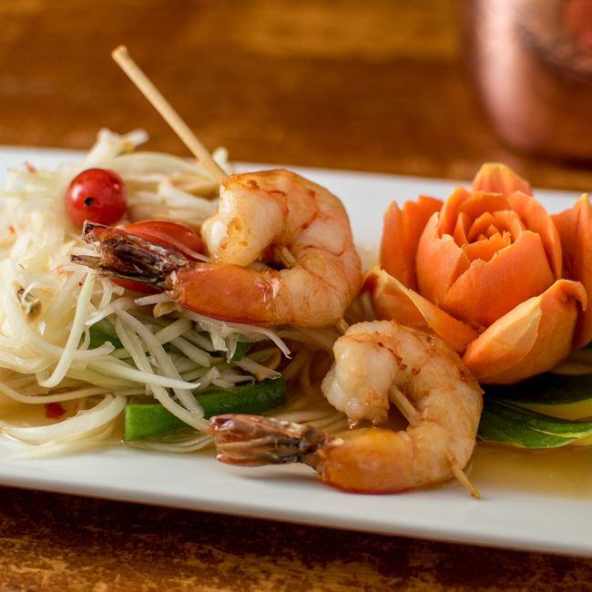 Papaya Salad at Monsoon Siam