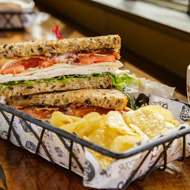 Turkey Club Sandwich at Colectivo Coffee