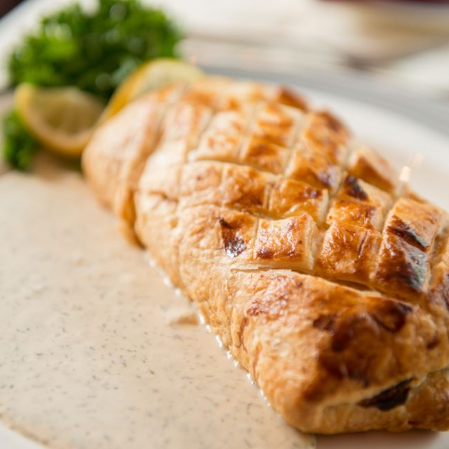 Salmon Wellington at The English Inn