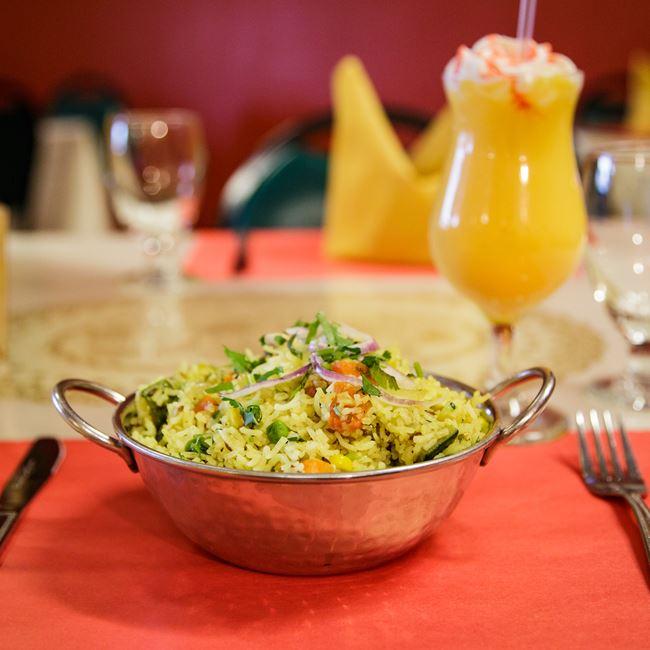 Vegetarian Biryani at Maharana Indian Restaurant