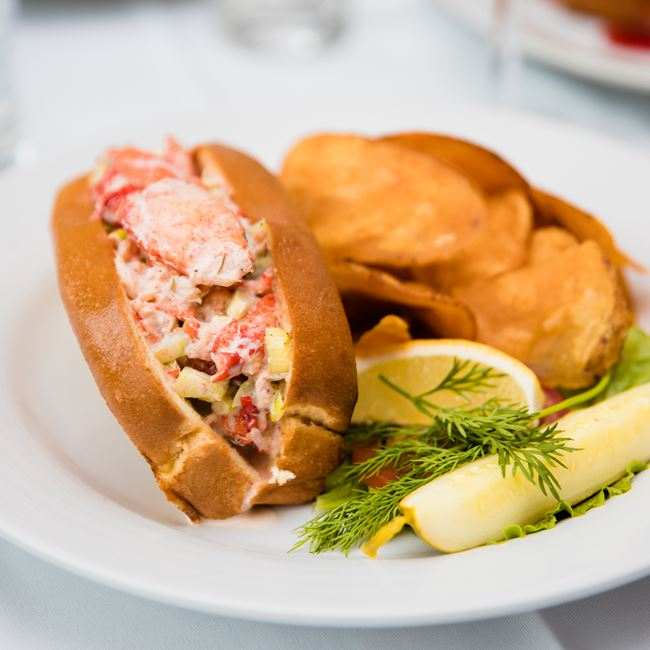 Lobster Roll at Harbor Fish Market & Grille