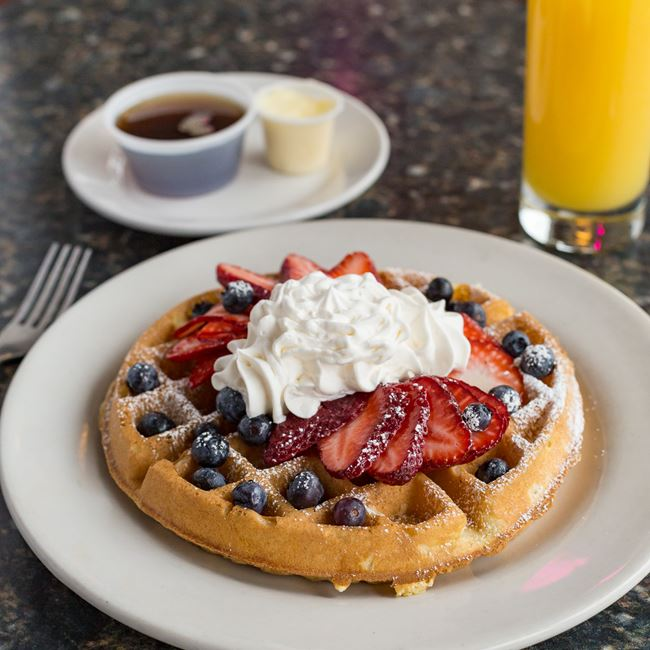 Berry Berry Waffle at North Ave Grill