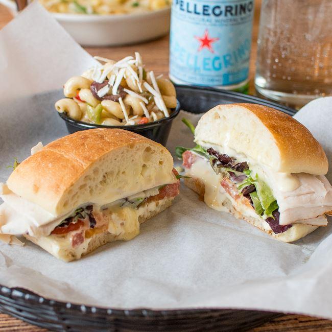 Smoked Turkey & Brie Sandwich at Villa Dolce Cafe