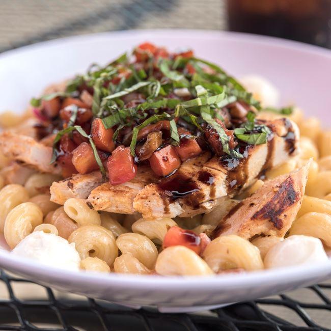 Bruschetta Chicken Pasta at Dockside Tavern Food & Spirits