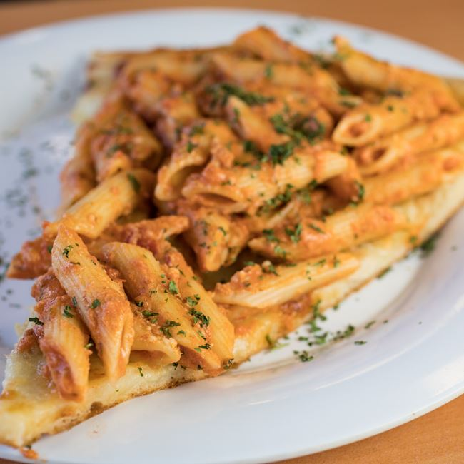 Penne Vodka Pizza at Nuebies Pizza