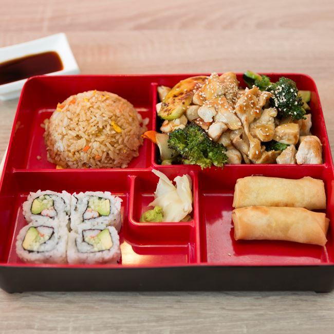 Chicken Teriyaki Bento Box at Sushi Express