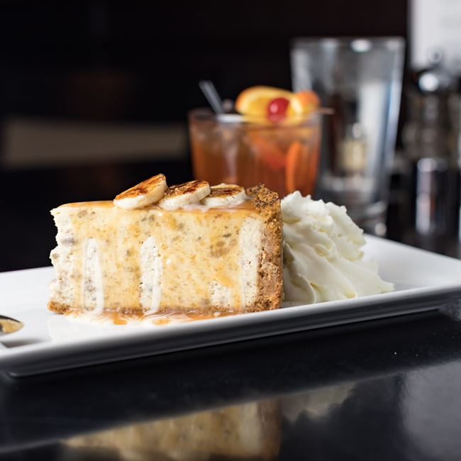Roasted Banana Cheesecake at Johnny's Italian Steakhouse