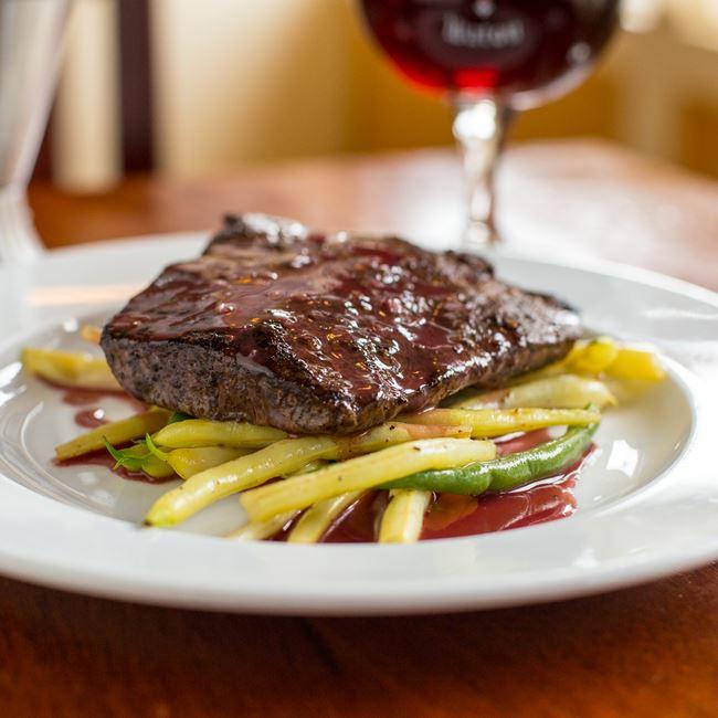 Steak Frites at Brasserie V