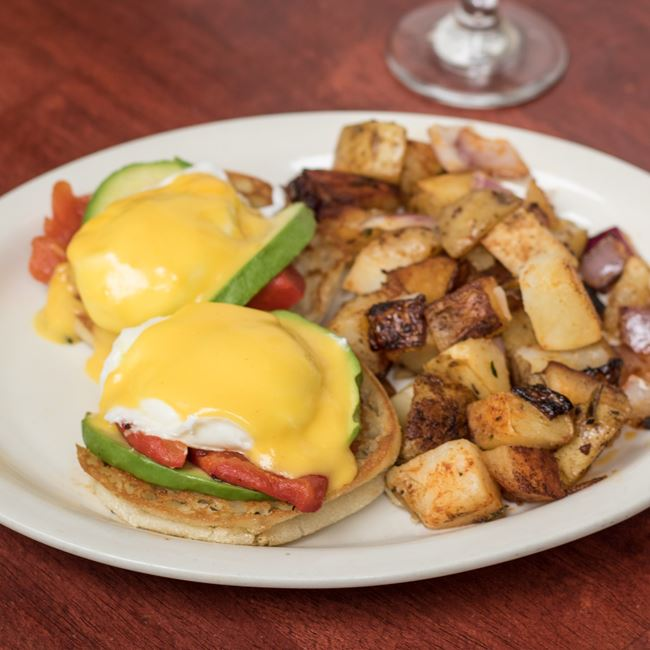 Avocado Roasted Red Pepper Benedict