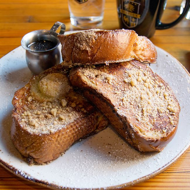 Cinnamon Streusel French Toast at Benelux Grand Cafe & Market