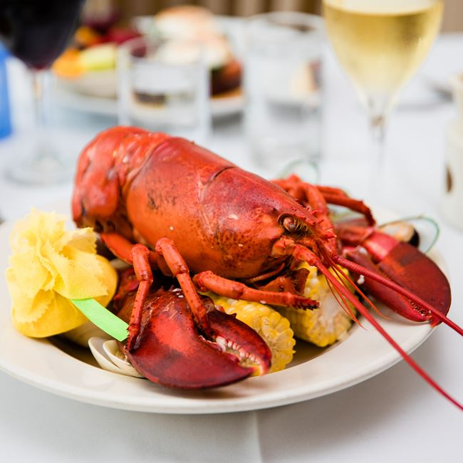Traditional New England Lobster Boil at Harbor Fish Market & Grille