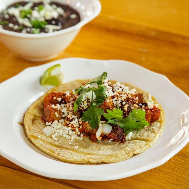Pork Belly Taco at Canteen