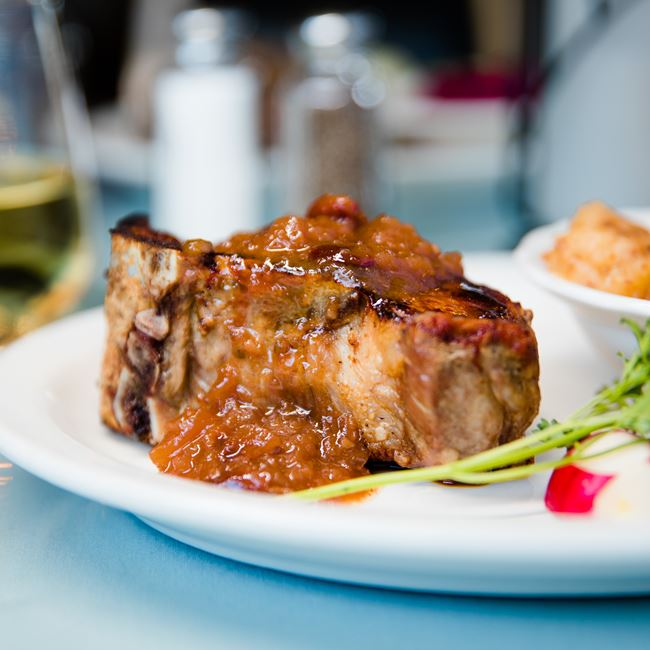 Frenched Pork Chop at The Mill Supper Club