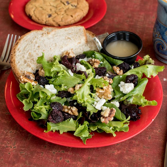 Cherries and Cheese Salad at Firefly Coffeehouse