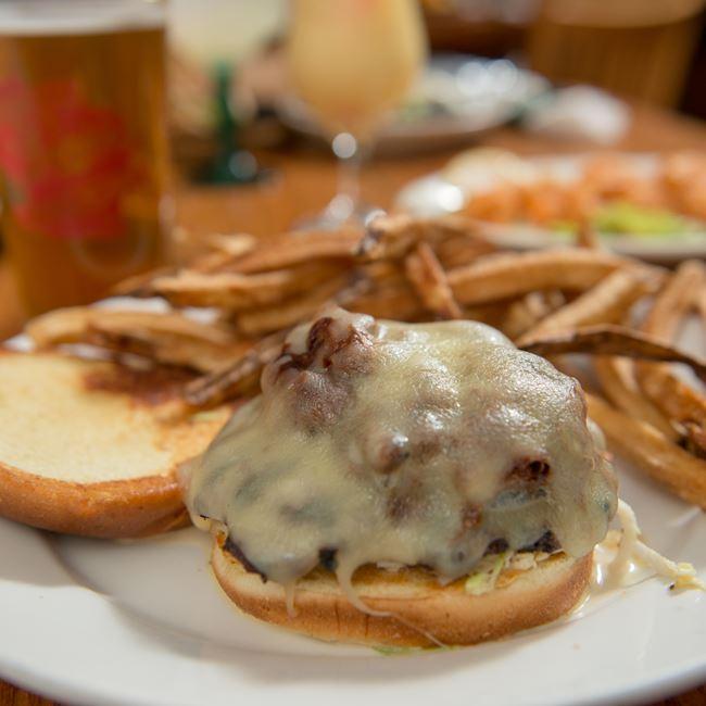Rasta Burger at Island Fever Rum Bar & Grill