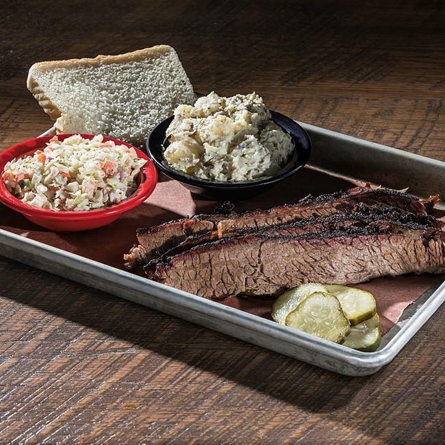 Brisket Platter at DOC's Commerce Smokehouse