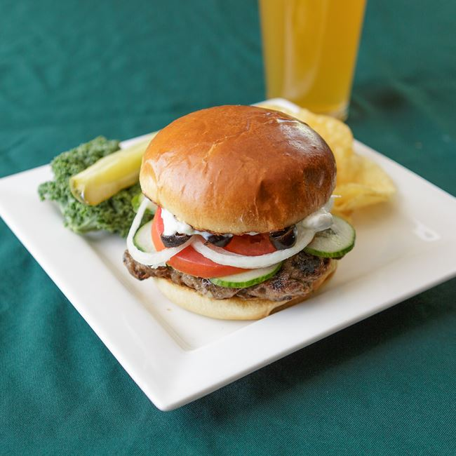 Gyro Burger at Shamrock Pub-n-Eatery