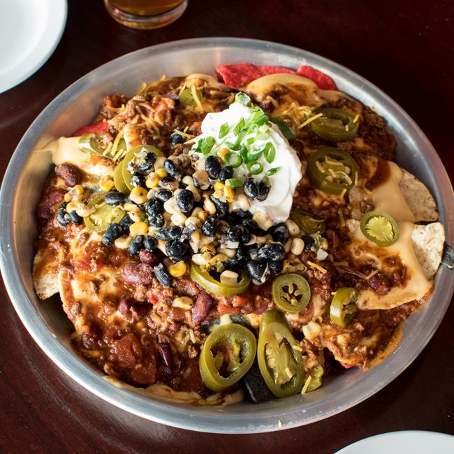 Queso Nachos at SCONNIEBAR