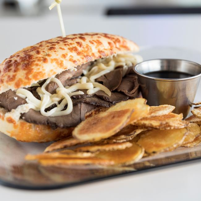 Roast Beef Hoagie at Lunch Box