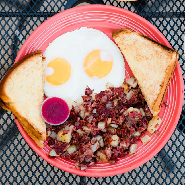 Award Winning Corned Beef Hash at The Viking Grill and Lounge