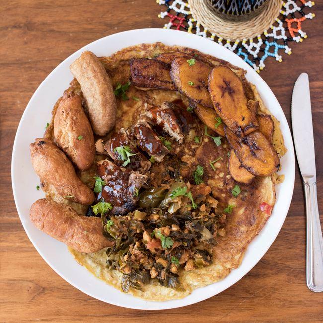 Ghana Omelette Meal at Irie Zulu