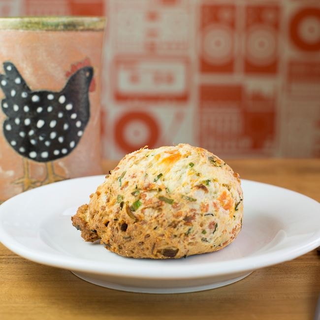 Cheddar and Chive Scone at Analog Ice Cream and Coffee