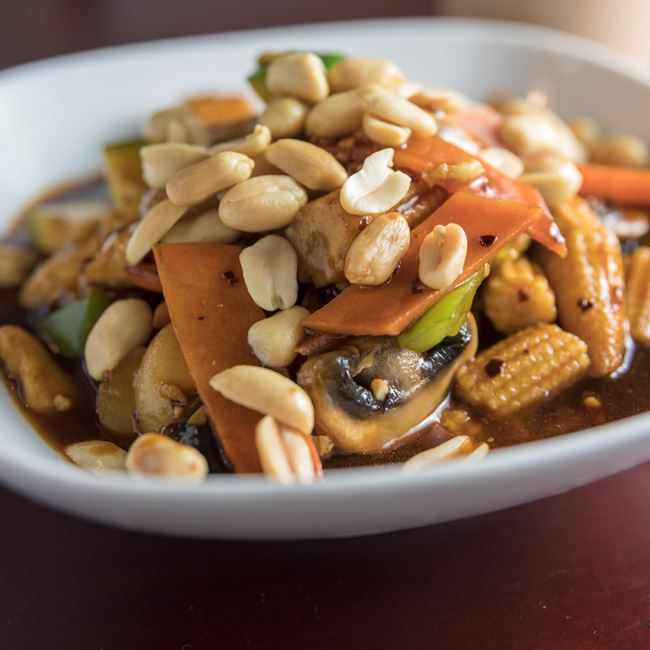Kung Pao Chicken at Jade Dragon