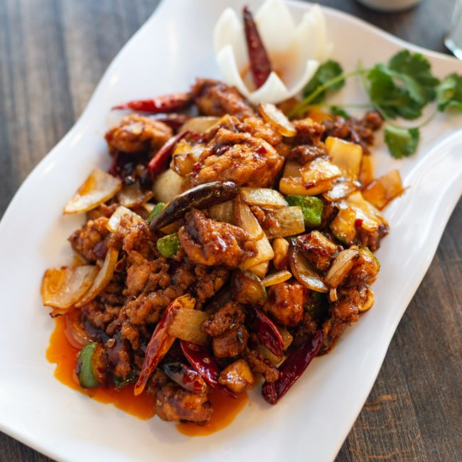 Kung Pao Chicken at TK WU