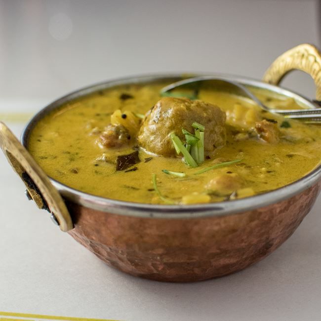 Kadhi Pakora at Maharani Indian Restaurant