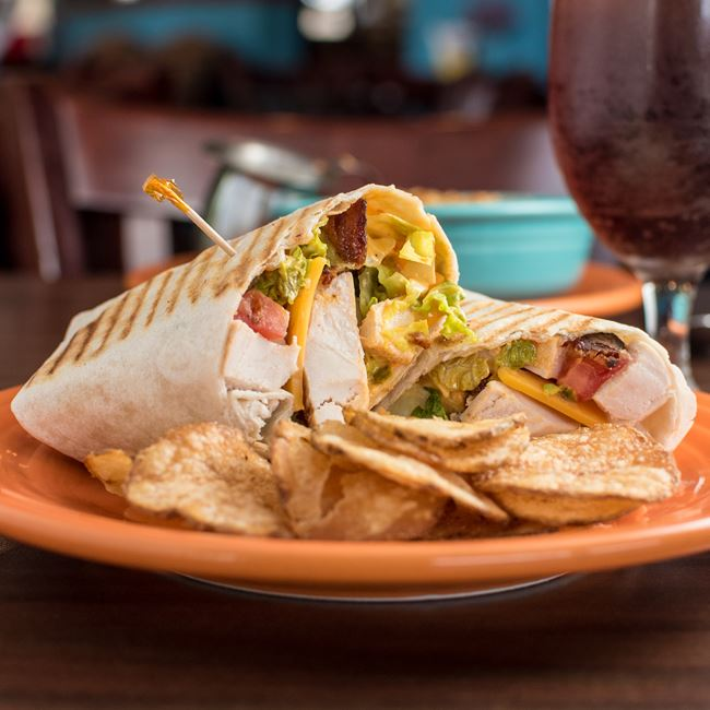 Chipotle Chicken Avocado Wrap at Yola's Cafe