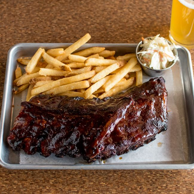 Kansas City Ribs at North and South Seafood & Smokehouse