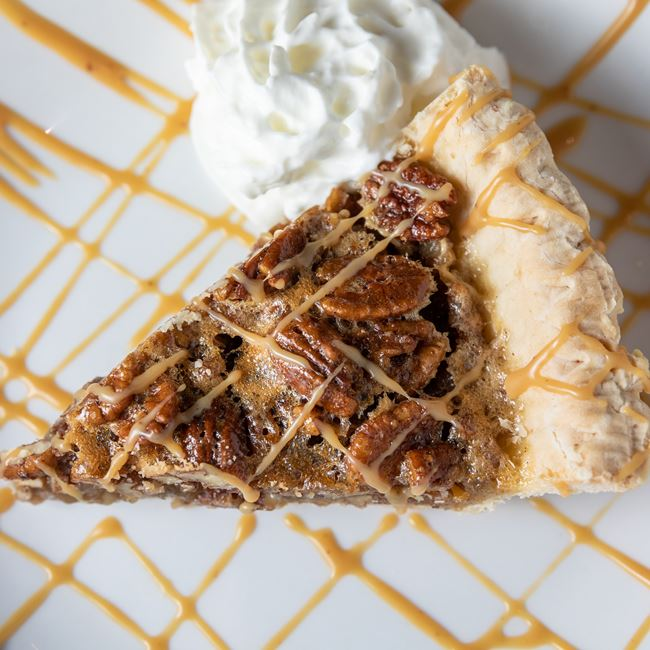 Greg's Signature Pecan Pie at Mahoney's Restaurant and Bar