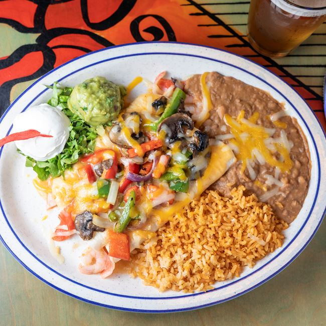 Seafood Enchiladas at South of the Border