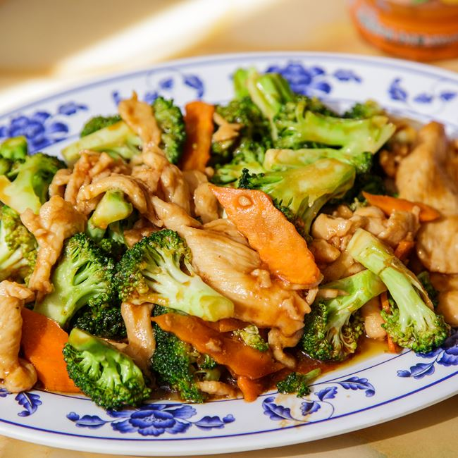 Chicken with Broccoli at A8 China