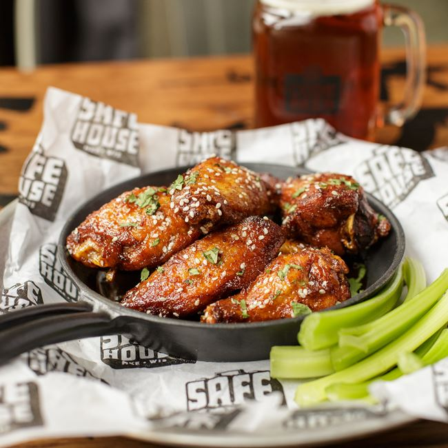 Asian Glazed Bird Watcher's Wings at SafeHouse
