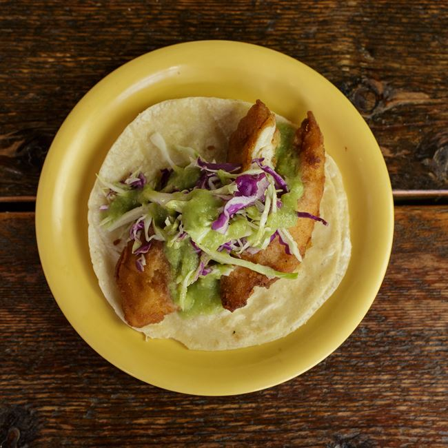 Baja Tilapia Taco at BelAir Cantina