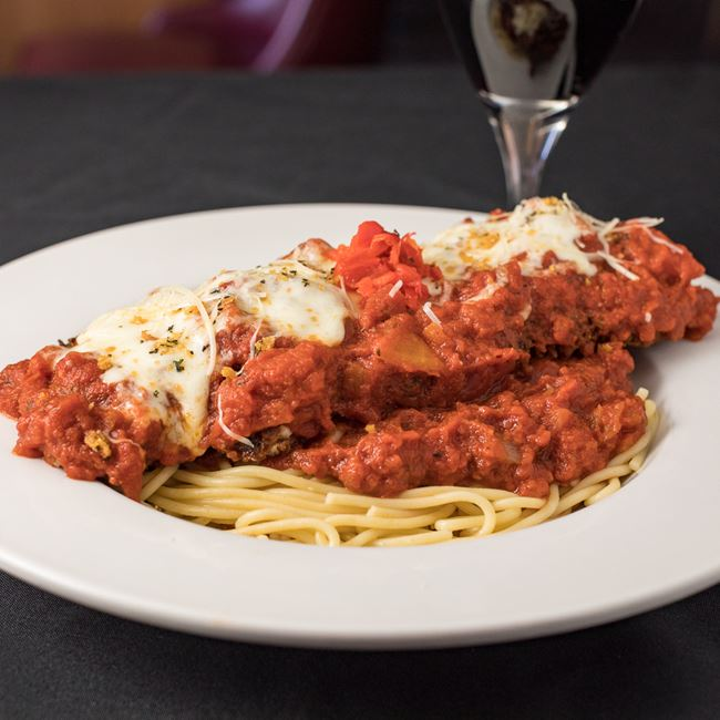 Chicken Parmesan at Draganetti's Ristorante