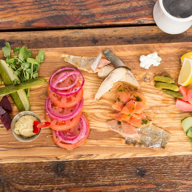 Smoked Fish and Pickle Board at Fuel Café
