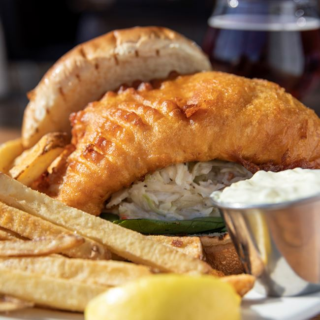 Beer Battered Cod Sandwich at Becket's