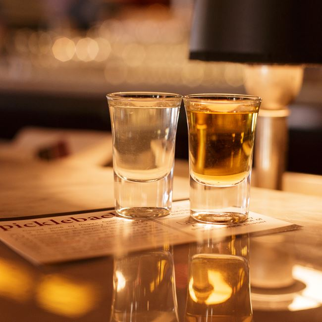 Pickleback at Mason Street Grill