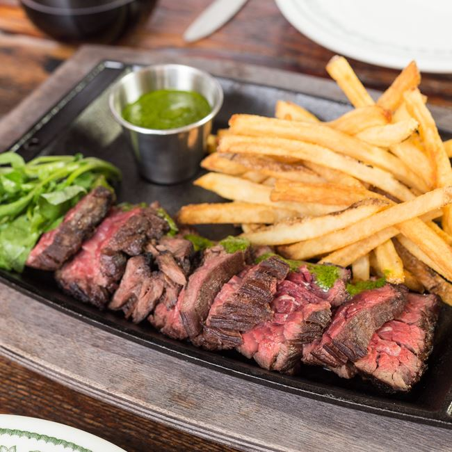 Steak Frites at Fuel Café
